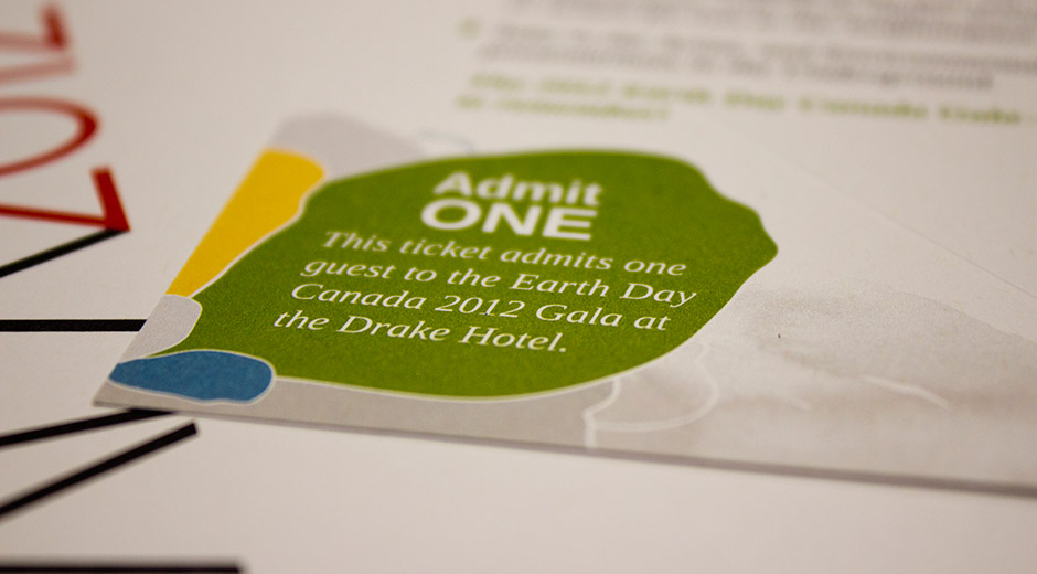 Earth Day Canada Gala 2012 ticket feature