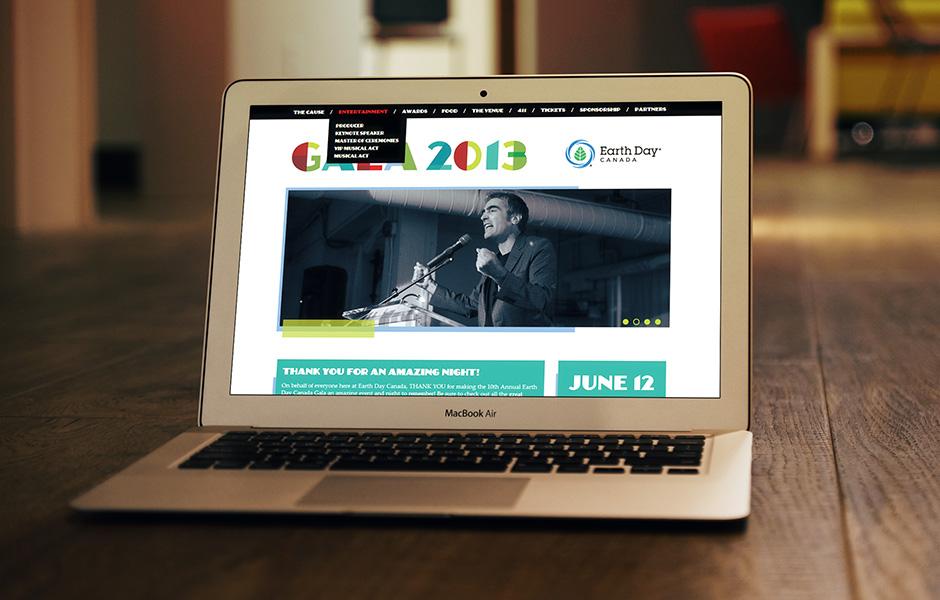 Earth Day Canada Gala 2013 web site