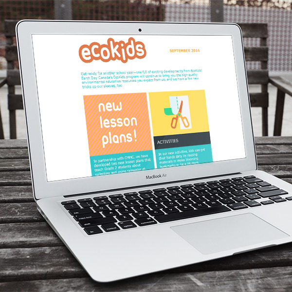 EcoKids newsletter redesign