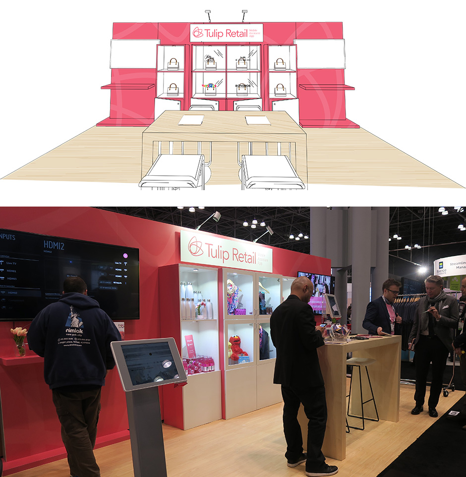 NRF Retail's Big Show 2017 booth in New York City with Tulip Retail